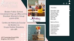 Boston Public School Enrollment Office Pop Up